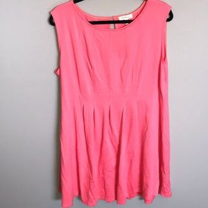 Monteau Los Angeles -Coral Dress in Coral. Size 2X